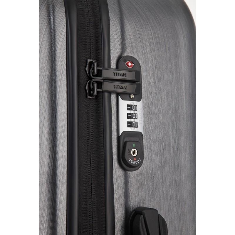 3ca008bbc68a8 Titan TRIPORT Stylové kabinové zavazadlo 4w, S (antracit) ≡ Kufry ...