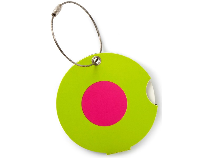 Addatag - Jmenovka na kufr - vzor Dot pink