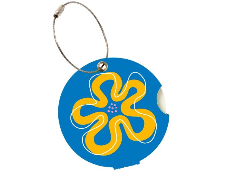 Addatag - Jmenovka na kufr - vzor Flower blue