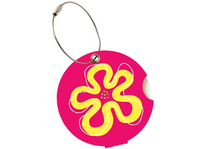 Addatag - Jmenovka na kufr - vzor Flower pink