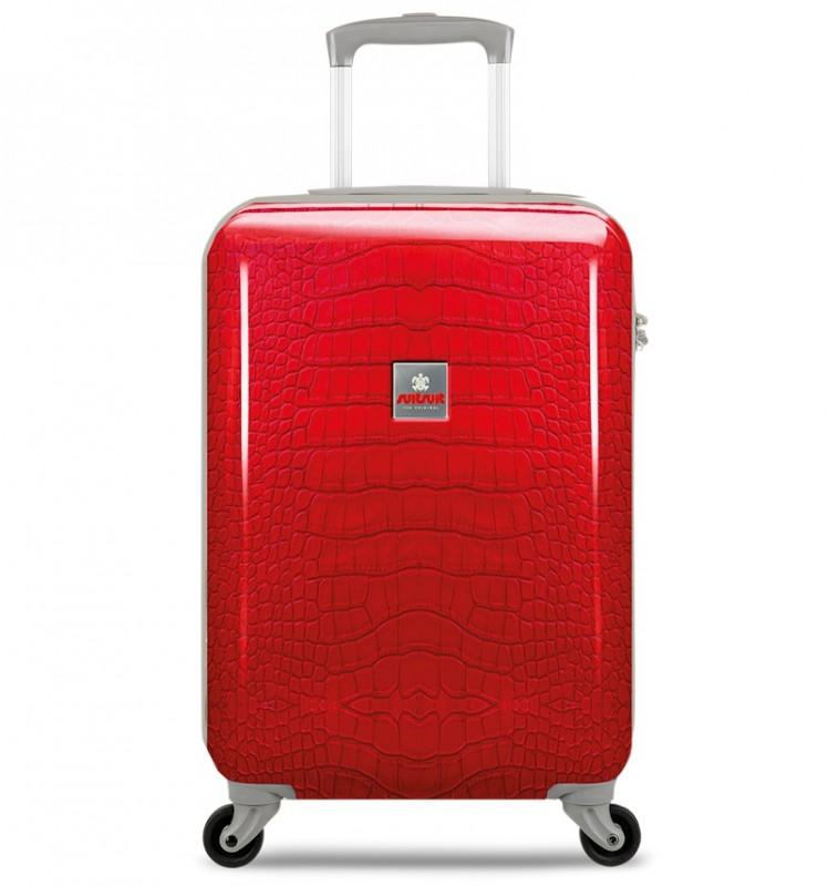 SuitSuit CROCODILE Palubní kufr 55 cm (červený)