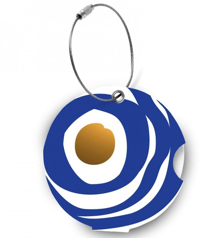 Addatag - Jmenovka na kufr - vzor Circle blue