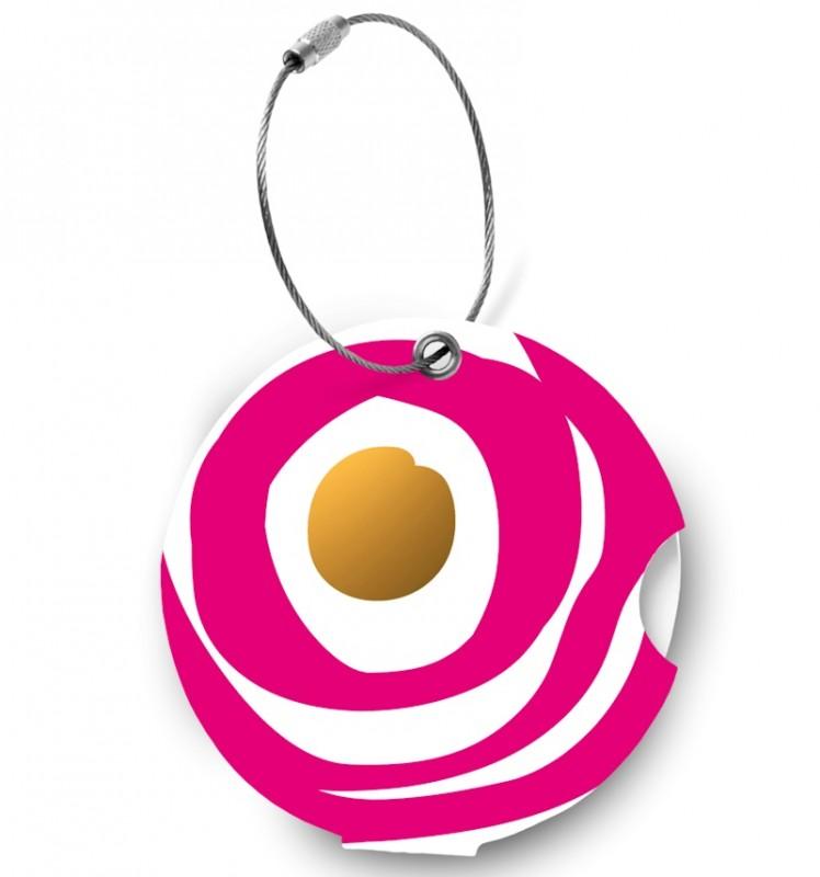 Addatag - Jmenovka na kufr - vzor Circle ruby