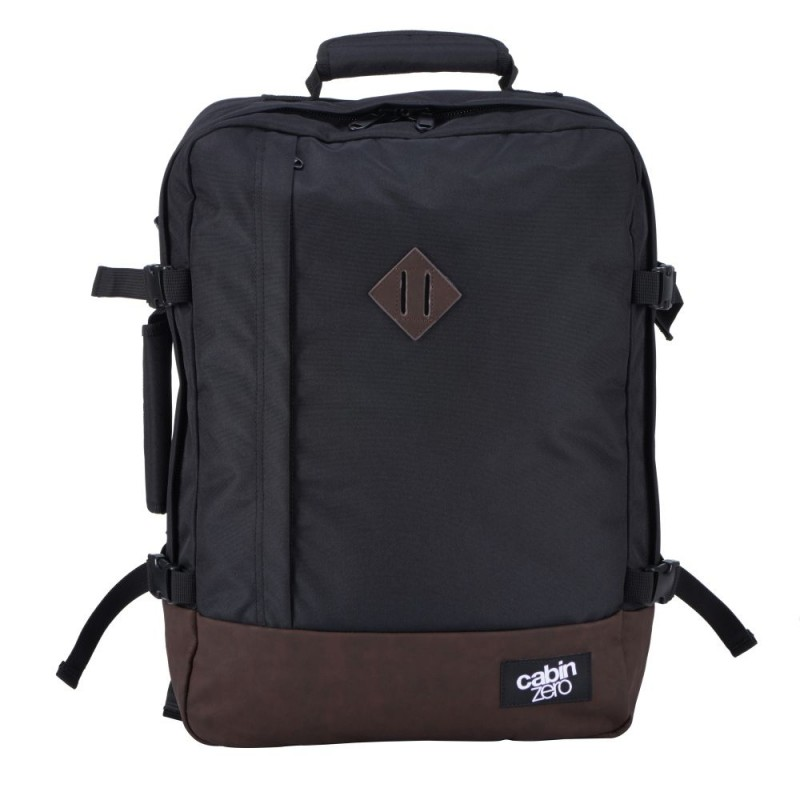 CabinZero VINTAGE ULTRA-LIGHT Retro palubní batoh 44 l (Absolute Black)