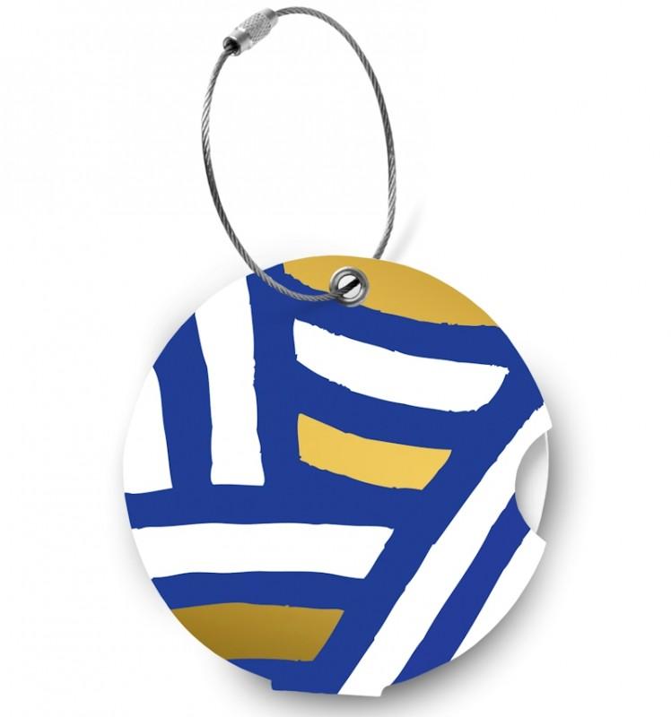 Addatag - Jmenovka na kufr - vzor Zebra blue