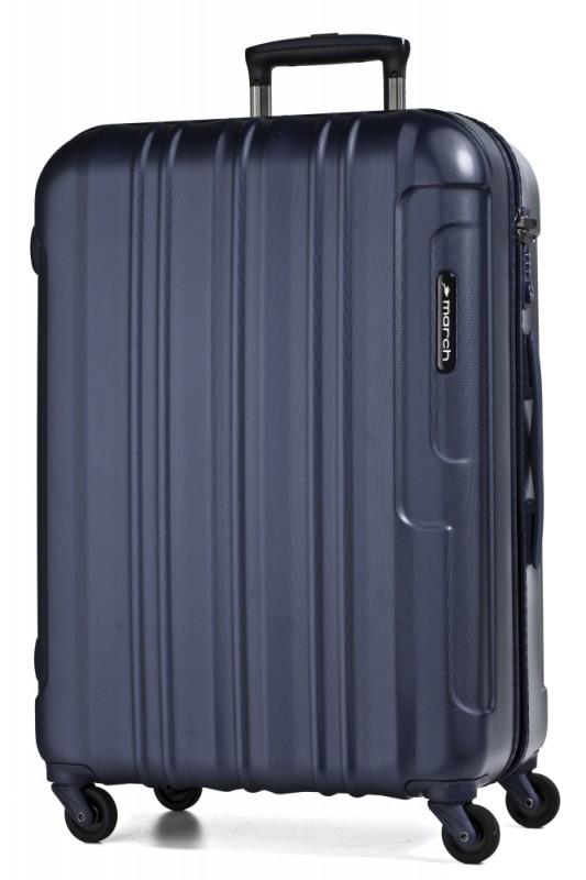 March COSMOPOLITAN Kvalitní cestovní kufr 77cm, L (Navy blue)
