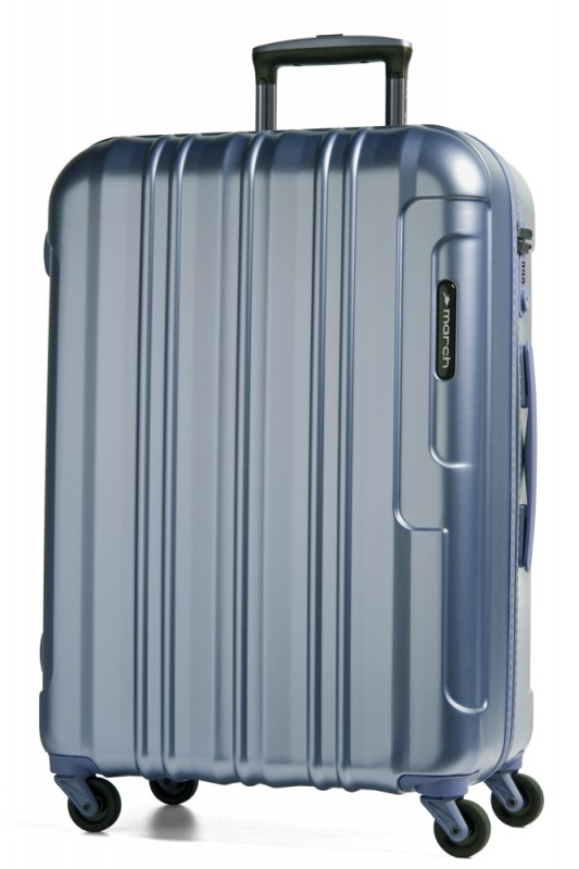 March COSMOPOLITAN Luxusní cestovní kufr 66cm, M (Metal blue)