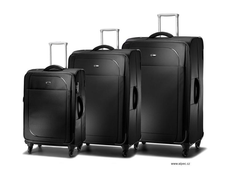 Carlton REFLEX Expandable Spinner Trolley Set 78/68/55cm (černá)