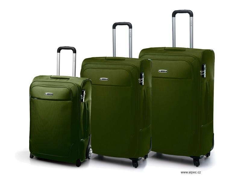 EXPERIA Spinner Trolley Set 78/68/(2w)55cm (olivově zelená)