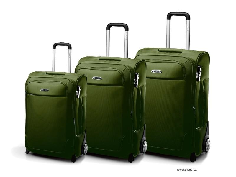 EXPERIA Expandable Trolley Set 72/65/55cm (olivově zelená)