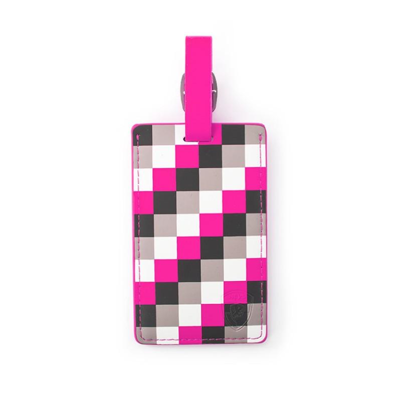 Heys - Jmenovka na kufr - vzor Pink Check