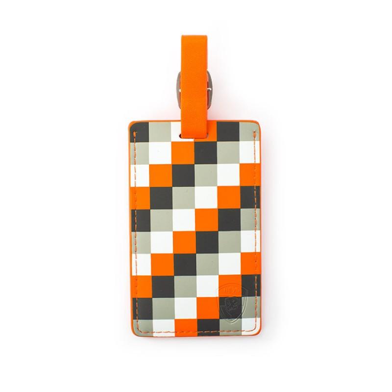 Heys - Jmenovka na kufr - vzor Orange Check