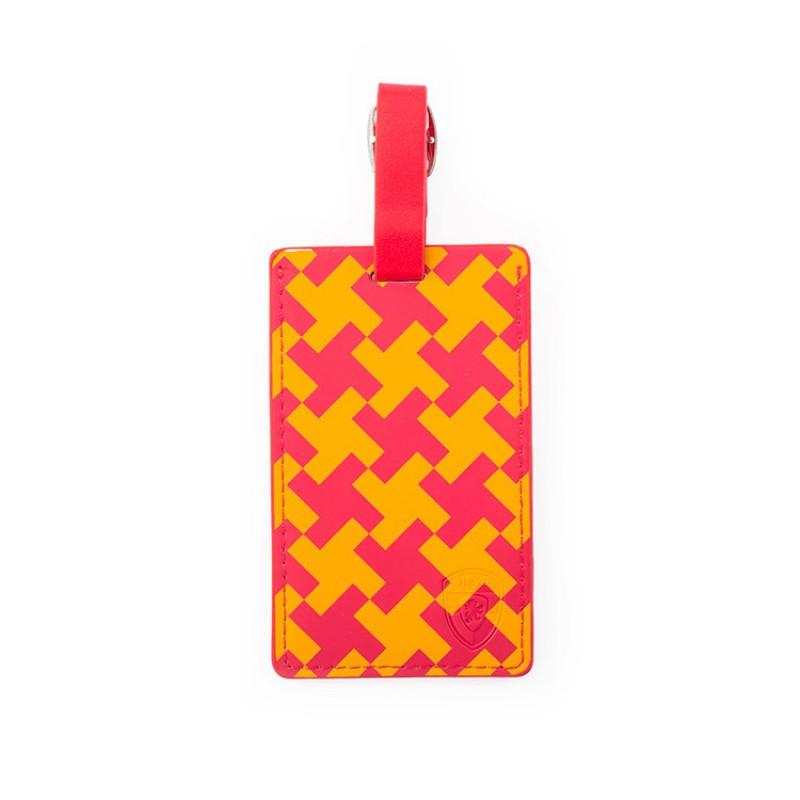 Heys - Jmenovka na kufr - vzor Pink Check Basketweave