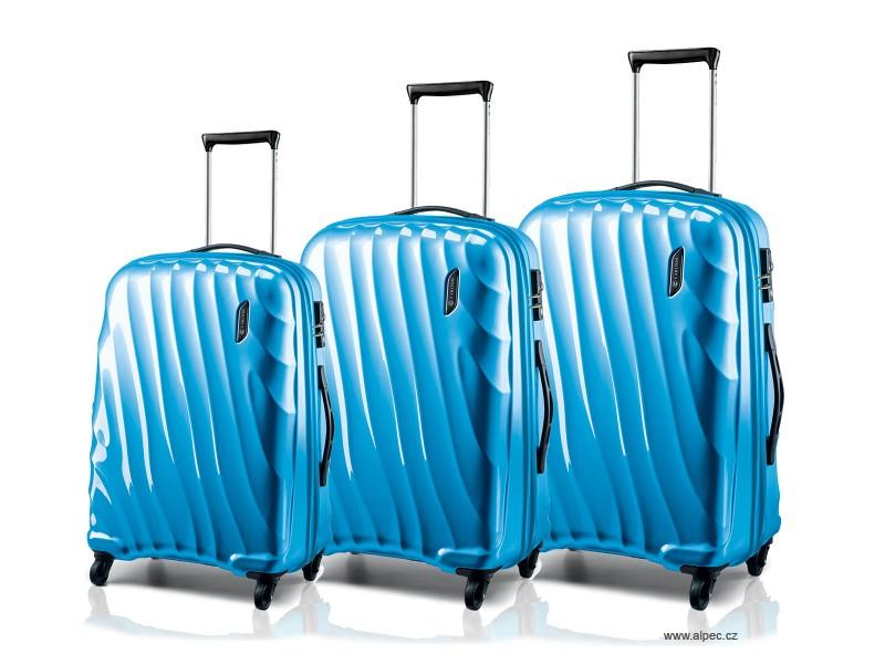 DUNE Spinner Trolley Set 79/67/55cm (azurově modrá lesklá)