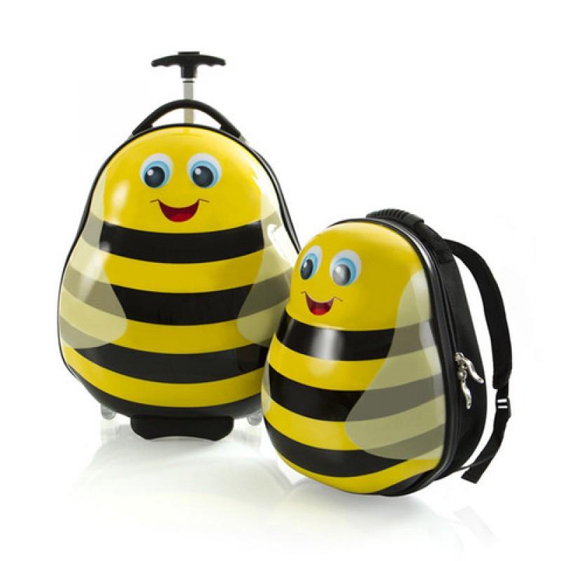 Heys TRAVEL TOTS dětská sada kufru a batohu, motiv Včelka