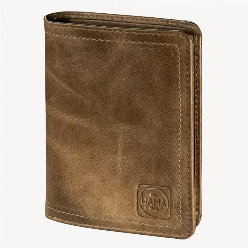 Hama MAILAND Pánská kožená peněženka (Světle hnědá)