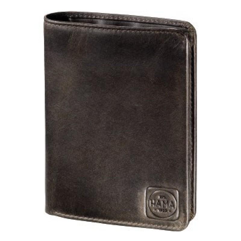 Hama PARIS Pánská kožená peněženka (Tmavě hnědá)