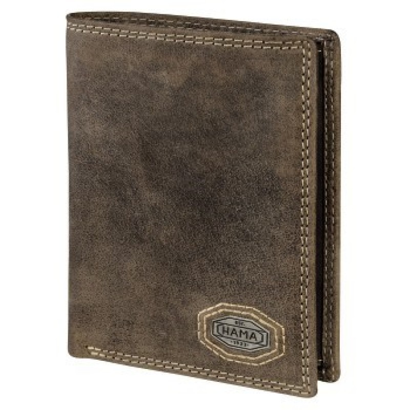 Hama FIFTEEN HERITAGE Pánská kožená peněženka (Hnědá)