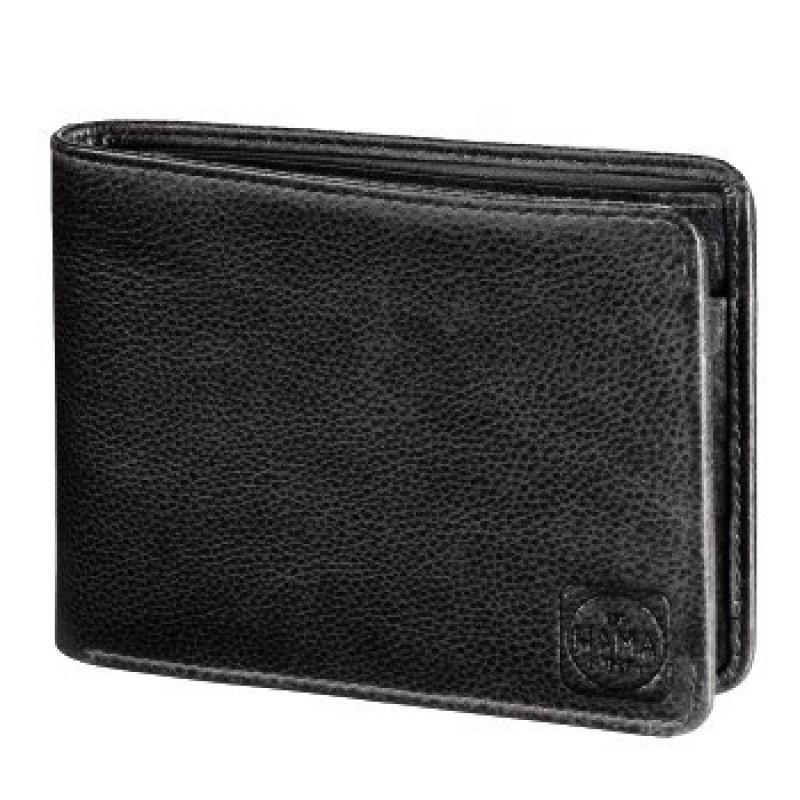 Hama AMSTERDAM Pánská kožená peněženka (Černá)
