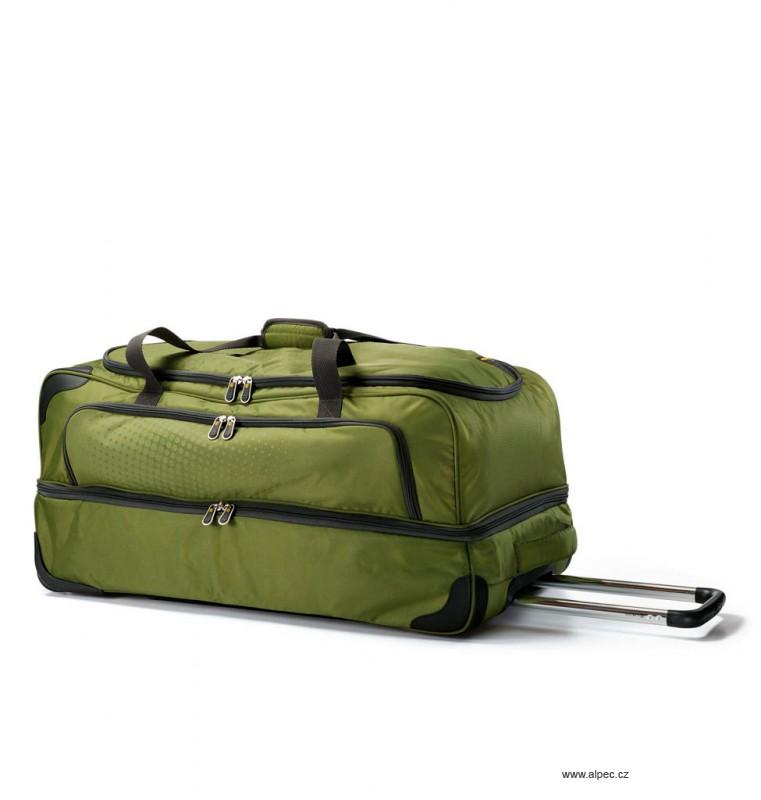 Cestovní taška TRIBE Double Decker Holdall with Trolley 80cm (zelená)