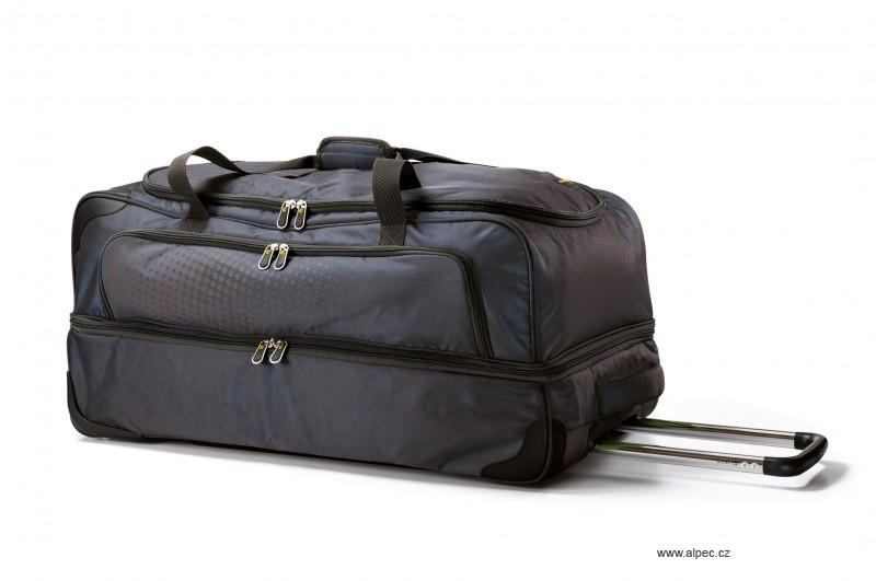 Cestovní taška TRIBE Double Decker Holdall with Trolley 80cm (grafitová)
