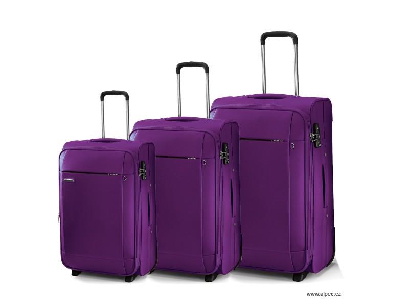 TITANIUM Expandable Trolley Set 72/65/55cm (purpurová)
