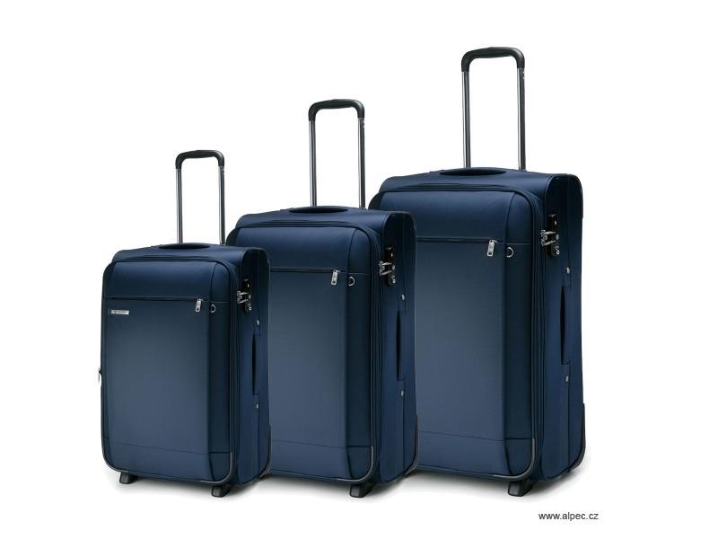TITANIUM Expandable Trolley Set 72/65/55cm (tmavě modrá)