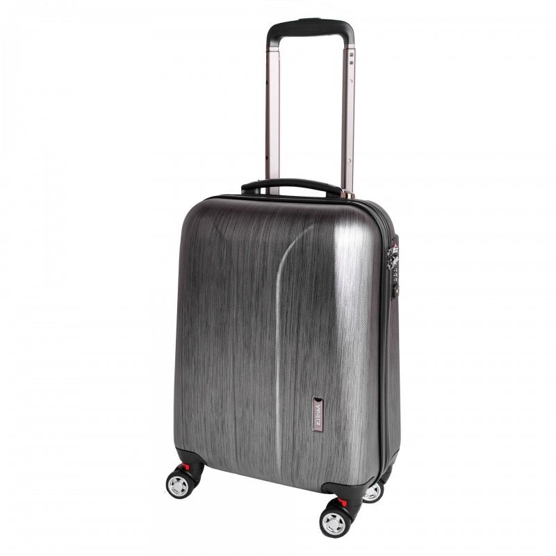 March NEW CARAT Palubní kufr na 4 kolečkách 55 cm (Black brushed)