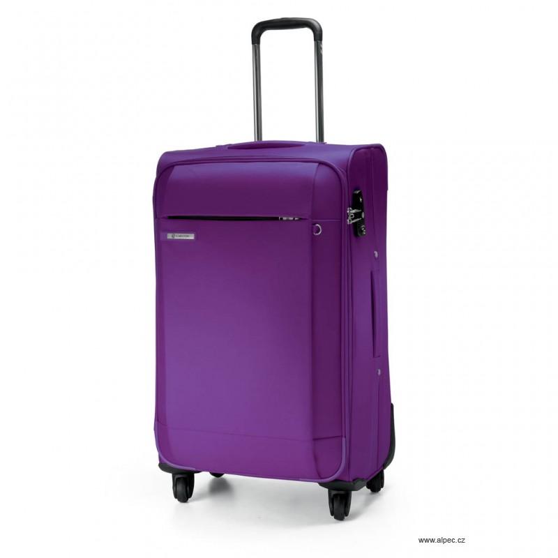 Kufr TITANIUM Spinner Trolley Case 68cm (purpurová)