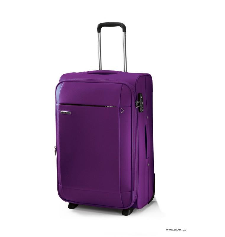 Kufr TITANIUM Expandable Trolley Case 55cm (purpurová)