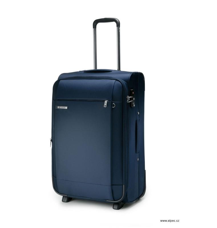 Kufr TITANIUM Expandable Trolley Case 55cm (tmavě modrá)