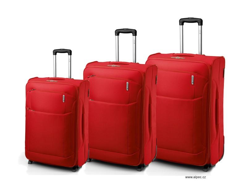OASIS Expandable Trolley Set 72/65/55cm (červená)