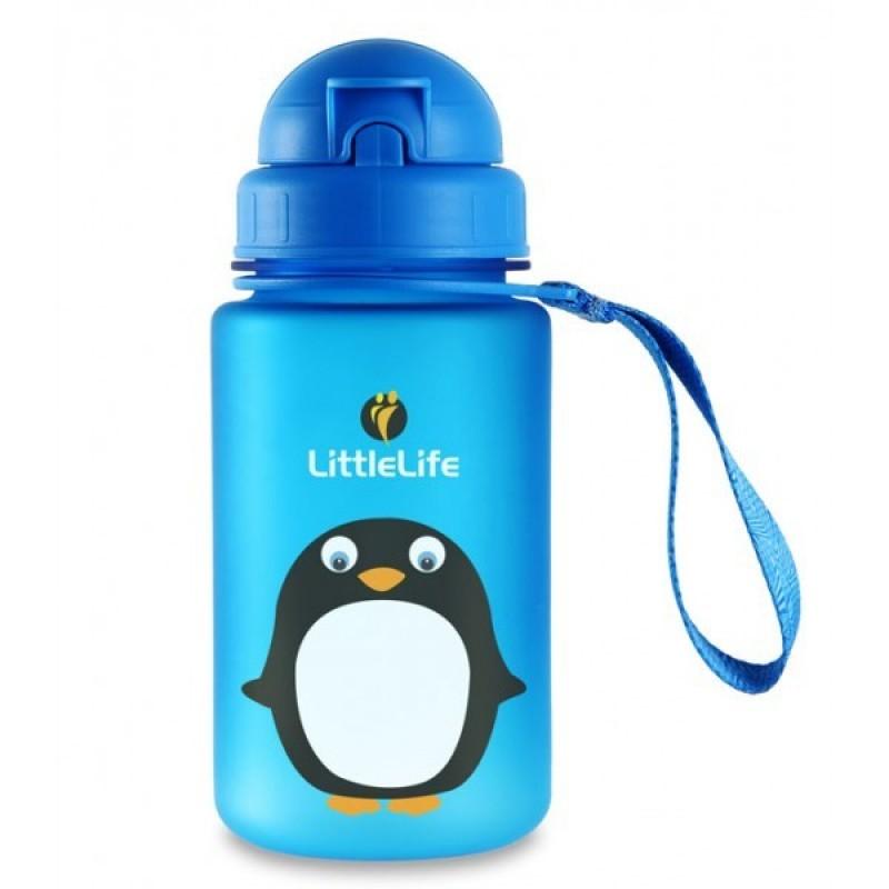 LittleLife ANIMAL BOTTLE pro děti 0,4 l - vzor Penguin