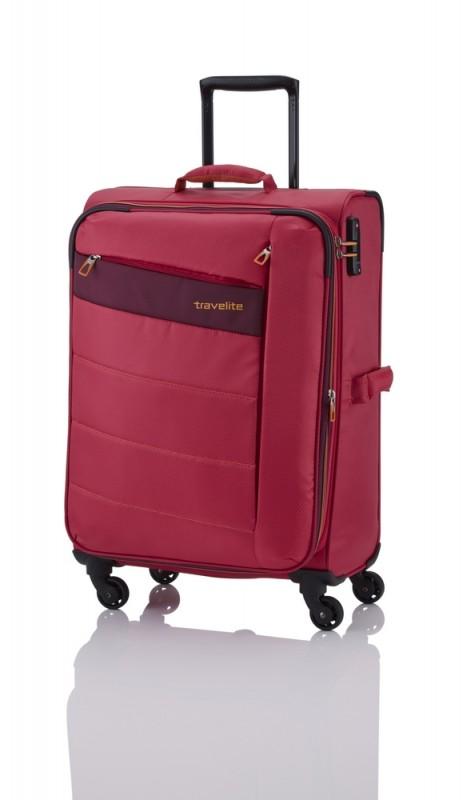 Travelite KITE Ultra lehký rozšířitelný kufr 4 kolečka, M (Pink)