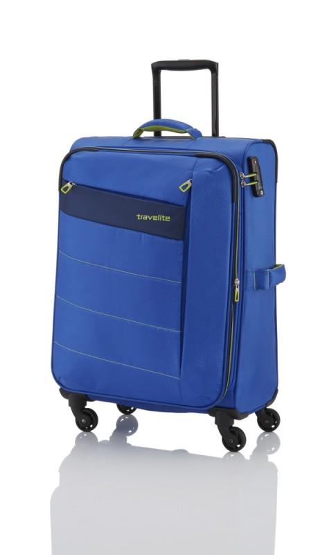 Travelite KITE Ultra lehký rozšířitelný kufr 4 kolečka, M (Royal Blue)