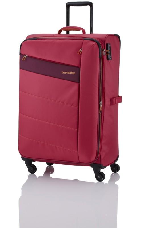 Travelite KITE Ultra lehký rozšířitelný kufr 4 kolečka, L (Pink)