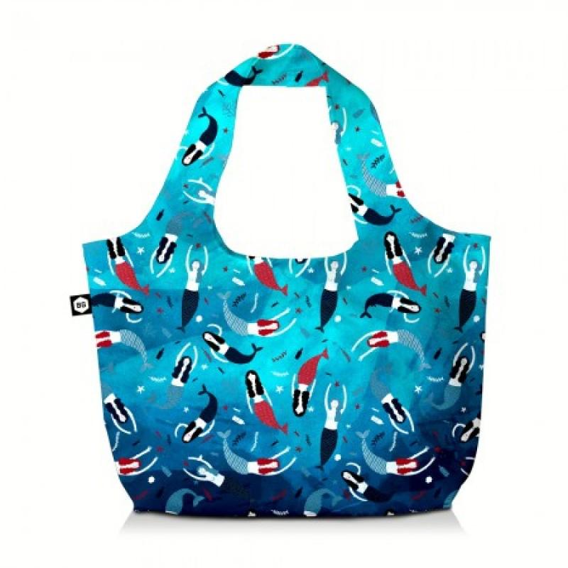 BG Berlin ECO BAG Skládací taška, vzor Blue Lagoon