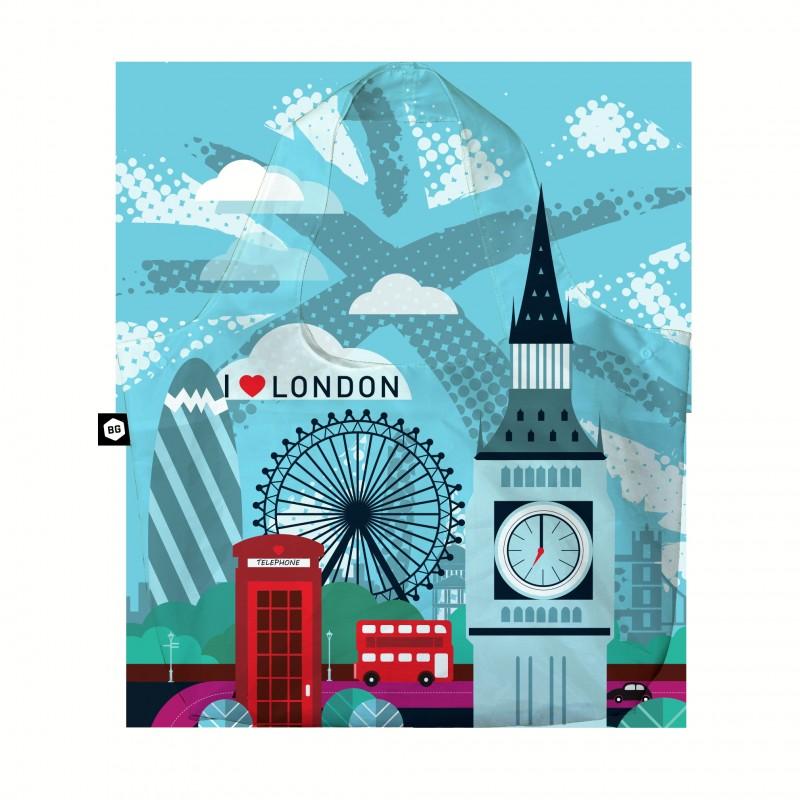 BG Berlin ECO BAG Skládací taška, vzor London