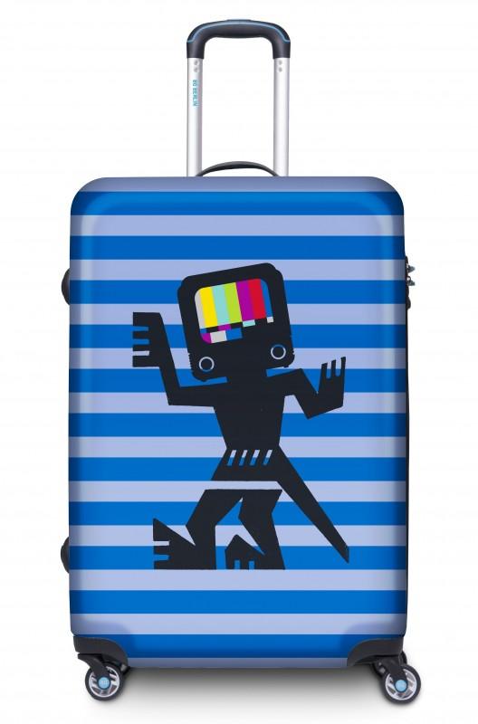 BG Berlin URBE Designový kufr, L - vzor Cave Man Blue