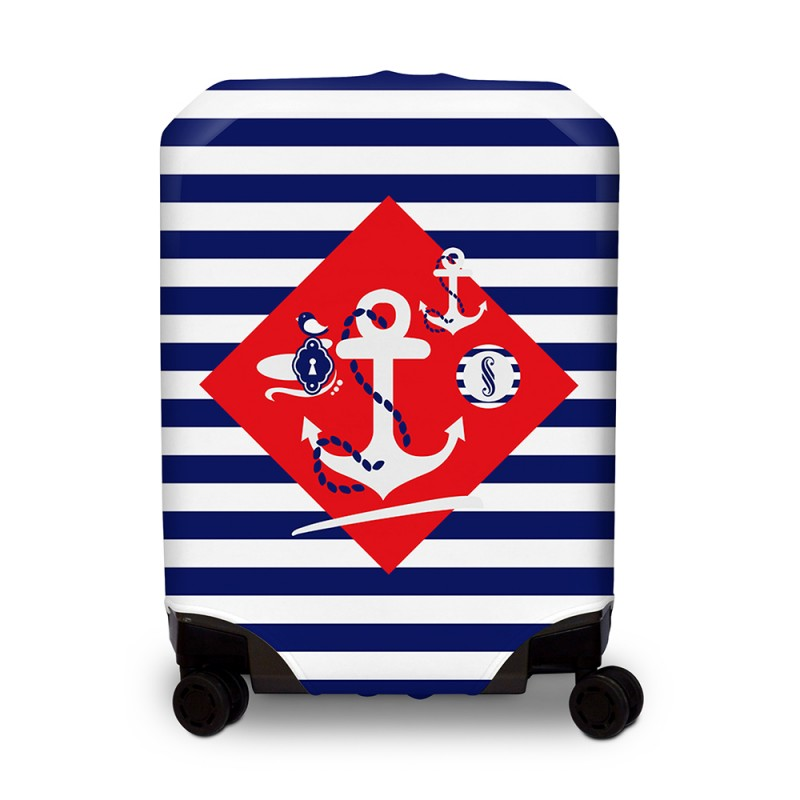 BG Berlin HUG COVER Obaly na kufr, vel. M - vzor Navy Sense